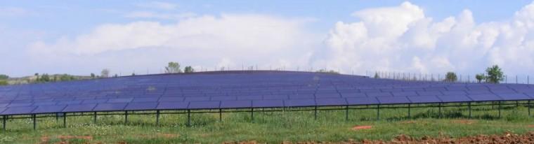 наземна фотоволтаична система от соларни панели