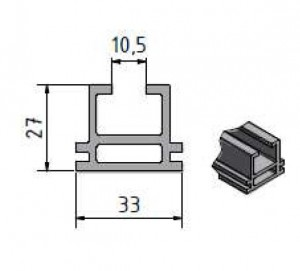 TF27 алуминиев профил за соларни системи от 3к солар варна