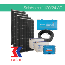 1120Wp/24V AC off-grid system