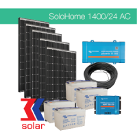 1400Wp/24V AC off-grid solar system