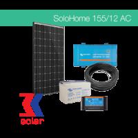 155W / 12V AC off-grid solar system