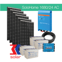 1680Wp/24V AC off-grid solar system